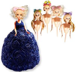 17db5b084f Muñeca Molde de pastel de plástico Bobbi Doll Toppers Vestido de pastel  Muñeca de cumpleaños Herramientas de decoración de pasteles Decoración de  la boda