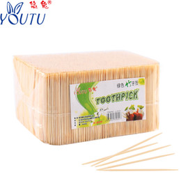 bamboo protection 2019 - Bamboo toothpick disposable double-headed single-headed toothpick environmental protection health fruit home hotel rice