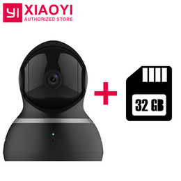 "Discount camera ip dome audio - Xiaoyi YI Dome Camera 1080P + 32G Card 112"" Wide Angle 360"" View Pan-Tilt Control Night Vision 2 Way Audio IP"