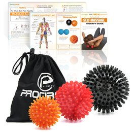 Wholesale Procircle Fitness Balls Set Handheld Massage Ball Hedgehog Stress Myofascial for Muscle Release