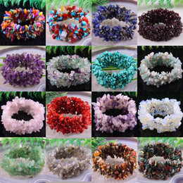 "$enCountryForm.capitalKeyWord Canada - whole saleFree Shipping Stretch Chip beads Weave Natural Garnet Shell Crystal Coral Quartz Opal Fluorite Carnelian Bracelet 7"" 1Pcs"