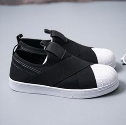 LOW PRICE Summer SUPERSTAR SLIP ON Sandals Loafers For Men Women head  crossed strap 4colors low Tops unisex sneakers 36-44 5217b7a2b4bf