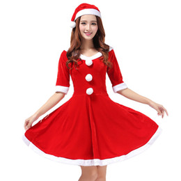 d8f071abf5a3 Wholesale Elastic Gold Velvet Material Christmas Costumes Feature Splicing  Cold-resistant Christmas Clothing Personalized Red Costumes