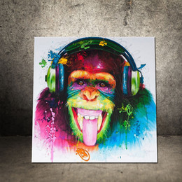 one living room 2019 - Decorative Painting Living Bed Room Entrance Abstract Chimpanzee Animal Oil Corridor Modern Simple Frameless Hanger Hot