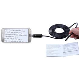 الذهب / أسود / 5.5 ملليمتر عدسة usb التنظير الروبوت وتغ pc الهاتف التنظير 2in1 البسيطة التنظير كاميرا التفتيش للماء كاميرا