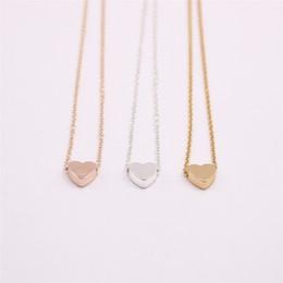 18K Gold versilbert Anhänger Halskette Flachboden feste Liebe Halskette das beste Geschenk für Frauen im Angebot