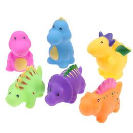 $enCountryForm.capitalKeyWord UK - 6pcs Set Baby Animals Swimming Water Bathing Soft Floating Toys Float Squeeze Sound Squeaky Bathing Toy For Baby Bath Toys
