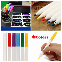 $enCountryForm.capitalKeyWord NZ - Environmentally Colorful Ink Liquid Chalk Marker Pen for Chalkboard Blackboard stickers Glass Window School Office Shiny LED board markerpen
