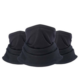 Discount polar fleece snood hat neck warmer - Women Men Winter Warm Sports GYM Thermal Stretch Polar Fleece Fabric Face Mask Scarfs Snood Neck Warmer Beanie Hats Caps
