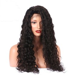 $enCountryForm.capitalKeyWord Australia - 100% unprocessed made in China aaaaaaa virgin remy human hair long natural color kinky curly full lace cap wig for girl