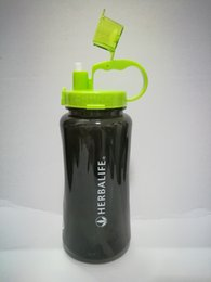 2000ml 64oz Outdoor Sports Herbalife Water Bottle Shake Cup Travel Camping Hiking Portable Wide Mouth Cap Lid Free BPA Health Drinking Black