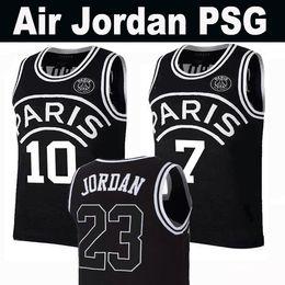 d4c11bde503 New 2019 PSG Paris Jersey 23 Michael JD 10 NEYMAY JR 7 MBAPPE Paris Basketball  Jerseys Black Wholesale Mix Order Fast Shipping