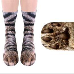 $enCountryForm.capitalKeyWord UK - 2018 NEW Fashion 3D Animal Paw Feet Crew Socks Foot 23-27cm Fashion Unisex Christmas Socks Female Funny high Ankle Sock Sale