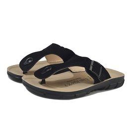 $enCountryForm.capitalKeyWord Canada - 2018 Summer Men's Flat Sandals Casual Shoes Male Buckle Beach Genuine Leather Slippers Flip Flops Matt Q-19