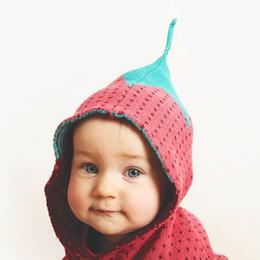 Bebek Hoodie Giysileri Moda Kırmızı Çilek Tarzı Ins Bebek 66-100 cm Uzun Kollu