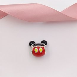 Authentic pAndorA silver necklAce online shopping - Authentic Sterling Silver Beads Miky Mouse Playful Icon Charms Fits European Pandora Style Jewelry Bracelets Necklace Pand C9616