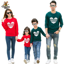 a13a29c58 Family Clothing 2017 LOVE Cotton Shirts Mommy and Me Clothes Mother  Daughter Father Son Baby Shirts Family Matching Outfits