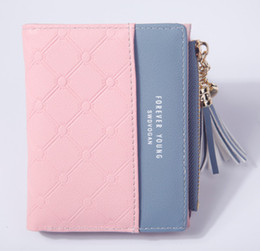 $enCountryForm.capitalKeyWord NZ - 2018 European and American style simple two-fold women's wallet fashion candy color fastener purse girl 2018051419