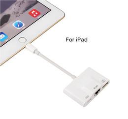 Usb female lan online shopping - iPhone iPad to RJ45 Adapter Lightning to RJ45 Ethernet LAN Wired Network Adapter Lightning to USB Camera Female OTG Converter