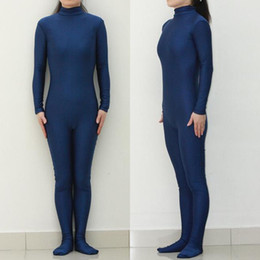 Wholesale LBS012 Sexy Lycra Spandex Dark Blue Unisex Party Leotard Catsuit Halloween Cosplay Costume Fetish Zentai Suits Wear
