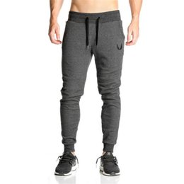$enCountryForm.capitalKeyWord Canada - Mens Pants Casual Elastic cotton Mens Fitness Workout Pants skinny Sweatpants Trousers Jogger men M-2XL Free Shipping