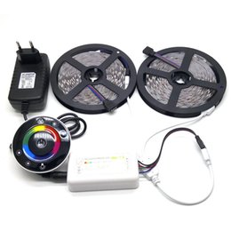 Wireless Touch Rgb Controller Australia - 10M SMD 5050 RGB LED Strip Set With 7Keys Wireless RF touch Controller With12V 3A Power Supply Adapter