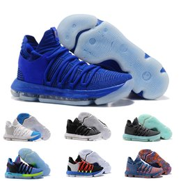 41802b6ed630ca 2018 Zoom KD 10 Multi-Color Oreo Numbers BHM Igloo Men Basketball Shoes KD  10 X Elite Mid Kevin Durant Sport Sneakers size 40-46