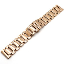 Discount solid gold wristwatch - Luxury Strap 18mm 20mm 22mm Rose Gold Watchband Solid Stainless Steel Metal Bracelets for Watches Wristwatch Replacement