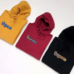 $enCountryForm.capitalKeyWord Canada - 18SS Gonz Box Logo Hooded Swartshirt Solid Pullover Sweater Casual Street Outdoor Couple Hoodies three color HFLSWY172