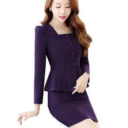 93b442e83a14 Fmasuth Formal Skirt Suit Woman Suit Ladies Office 2 Pieces Tailleur Jupe  Femme Career Business ow0415