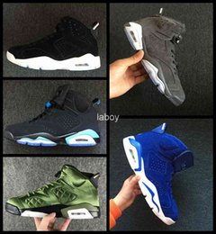 Gray Basketball Shoes Canada - 2018 New Gatorade Green 6 VI Men Basketball Shoes Gray suede Man 6s Wheat Mens Sneakers Trainers Basket ball Sports Shoes Size 41-47