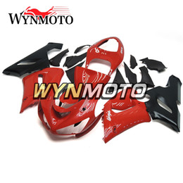 Red Black Kawasaki Zx6r UK - New Red Black Hull For Kawasaki ZX-6R 2005 - 2006 Bodywork Motorcycle Covers ZX-6R 2005 2006 Plastic ABS Injection Fairing