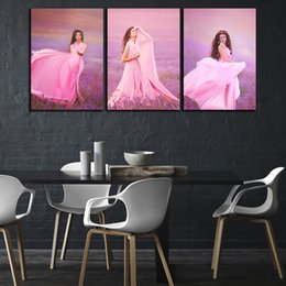 sexy figure for girls Australia - 3 Panel HD Printed Modern Girl Sexy Beauty Movie Star Poster Oil Painting On Canvas Home Wall Art Picture For Living Room Decor