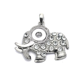 $enCountryForm.capitalKeyWord UK - Hot sale 006 Vintage Elephant snap button bracelet Charm Necklaces Jewelry For Women silver jewelry Fit 12mm snap button