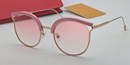 Blue hollow online shopping - New fashion designer brand womens style sunglasses charming cat eye specially designed hollow frame top quality protection sun glasses