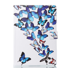 China Wallet Leather Australia - Butterfly Cover PU Leather Tablet Case For Apple ipad pro 9.7 A1673 1674 A1675 Smart Wallet Cartoon Cover Case+Stylus Pen+Film.