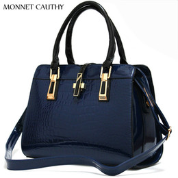 $enCountryForm.capitalKeyWord Australia - MONNET CAUTHY Bags for Ladies Solid Color Wine Red Rose Navy Blue Black and White Shell Totes Concise Fashion Handbags Crossbody