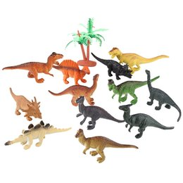 best toys UK - 12pcs  Lot Dinosaur Toy Set Plastic Play Toys Dinosaur Model Action And Figures Best Gift For Boys