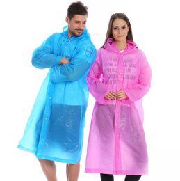 Chinese  Thicken EVA Waterproof Frosted Transparent Raincoat Fashionable Rainwear Rain Coat Jacket Clothes Rain Gear Transparent raincoat #yy01 manufacturers