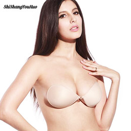 519ba637db Sexy Women Invisible Push Up Bra Self -Adhesive Silicone Bust Front Closure Sticky  Bra Backless Strapless Bra