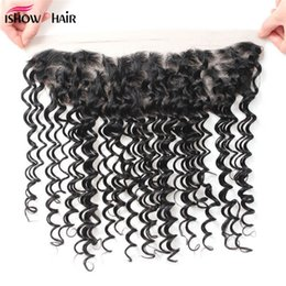 12 x 16 online shopping - 10A X Brazilian Deep Wave Lace Frontal with Baby Hair Overnight Shipping Malaysian Peruvian Indian Virgin Human Hair Lace Frontal