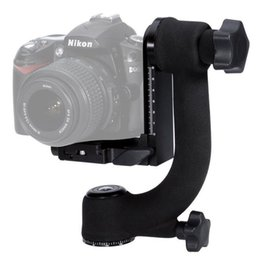 Dslr Camera Tripods Australia - Professional Heavy Duty Metal Gimbal Ballhead 360 Panoramic Tripod Ball Head For Nikon Canon Sony Fujifilm DSLR Cameras