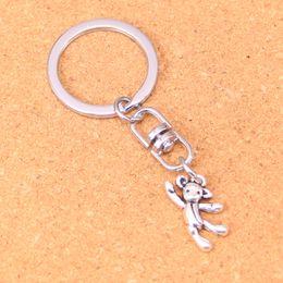 $enCountryForm.capitalKeyWord Australia - New Design gymnastics lovely bear Keychain Car Key Chain Key Ring silver pendant For Man Women Gift