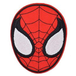Chinese  SuperHero Amazing Spiderman Spider Man Face Embroidery Patches MOVIE Costume Sew Iron On Applique Patch Badge DIY Apparel Jeans Jacket Bag manufacturers