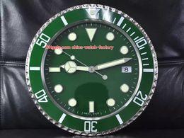 Venta al por mayor de 12 Estilo topselling Inicio Reloj Relojes de pared 34cm x 5cm 1,5 kg 316L cuarzo reloj de la marca luminiscente 116610 116710 1166719 116619 Relojes Relojes