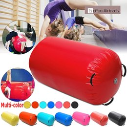 black blocks 2019 - 120x60CM Fitness Inflatable Air Roller Home Large Yoga Gymnastics Cylinder GYM Mat Beam HOT discount black blocks