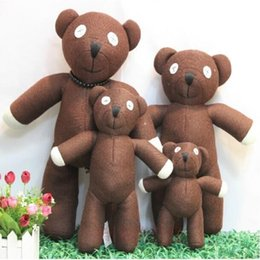 Free Christmas Gifts For Children Australia - 2018 Free shipping Hot Sale 23cm Height Mr Bean Teddy Bear Animal Stuffed Plush Toy For Children Gift Brown Color Christmas Gift