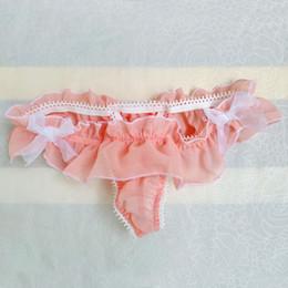 $enCountryForm.capitalKeyWord NZ - Sexy Lace Chiffon Transparent Sissy Thong T BACK Bow Mens Underwear Sexy G strings Panties Gay Male Underpants Low rise Bikini