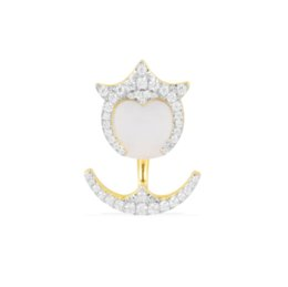 China Single earrings of small golden yellow demons,Hand inlaid diamond,Famous brand high-end fashion Sterling silver with diamond jewelry suppliers