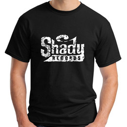 bcb235268 Cheap T Shirts Graphic O-Neck New Shady Records Hip Hop Music Symbol Eminem  Black Men's T-Shirt S-3XL Short-Sleeve Mens T Shirts